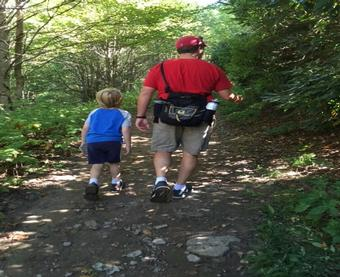 Father and Son Hike